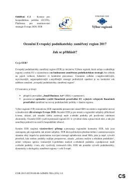 Ocenění Evropský podnikatelsky zaměřený region 2017