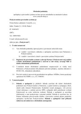 Vzorové obchodní podmínky pro affiliate program v1