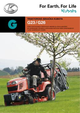 Prospekt Kubota G23 / G26