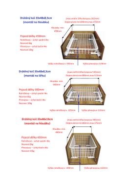 Drátěný koš 33x48x8,5cm (montáž na hloubku) (montáž na šířku