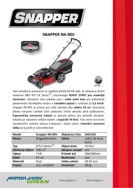 Snapper PL NX-90V