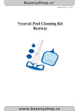 Vysavač Pool Cleaning Kit Bestway