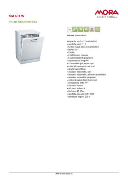 Produktový list SM 631 W