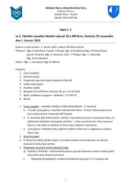 Zápis č 2 – 2015