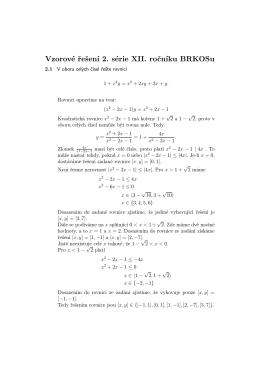 Vzorové řešení 2. série XII. ročníku BRKOSu