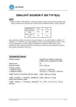 OBALOVÝ SOUBOR P 300 TYP B(U)