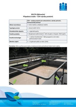 GELITA (Německo) Případová studie – ČOV výroba proteinů