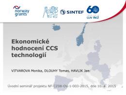 Příspěvek 5 - Czech-Norway Pilot CCS Study