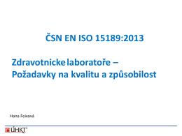 Změny normy ISO 15189