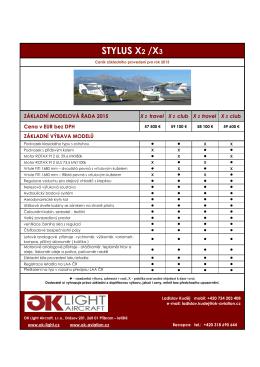 Ceník STYLUS 2015 - OK Aviation Base