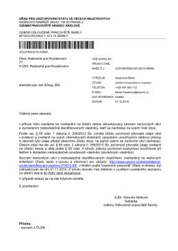 ČJ: UZSVM/HSM/3381/2015-HSMM