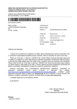 ČJ: UZSVM/HSM/2504/2015-HSMM