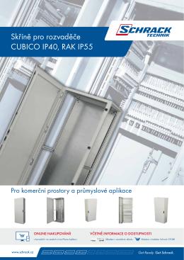 Skříně pro rozvaděče CUBICO IP40, RAK IP55