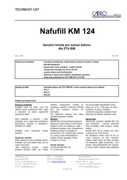 Nafufill KM 124 - CAPRO spol. s ro