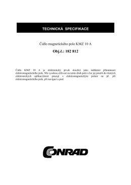 TECHNICKA SPCIFIKACE - produktinfo.conrad.com