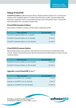 Nákup Print2PDF