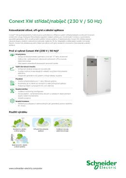 Conext XW střídač/nabíječ (230 V / 50 Hz)