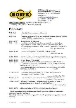 program - školení TT 2015