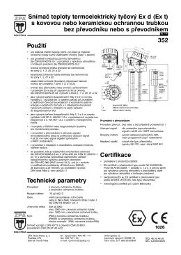 1) Katalogový list 352
