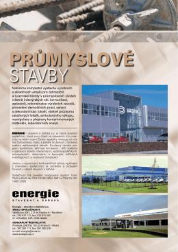 průmyslové stavby - Energie stavební a báňská as