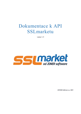 Dokumentace k API SSLmarketu