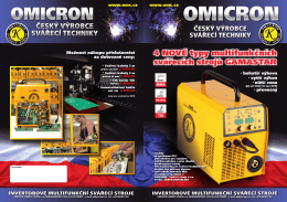 4 NOVÉ typy multifunkčních svářecích strojů GAMASTAR