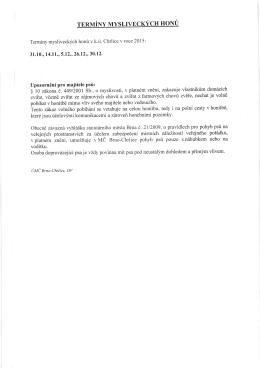 Upozorn6ni pro majitele Psri: giO zakona-e.4491 - Chrlice