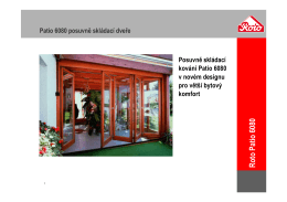 Skládací systém Patio 6080