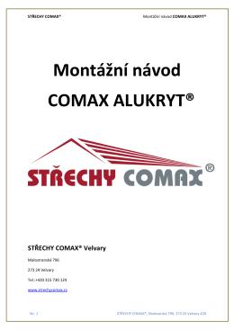 Montážní návod COMAX ALUKRYT®