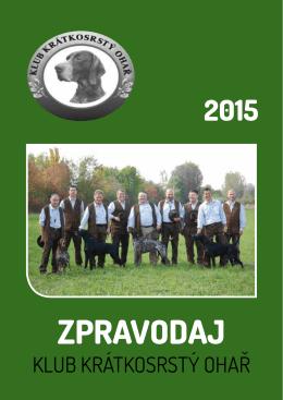 Zpravodaj obálka 2015 - Klub krátkosrstý ohař