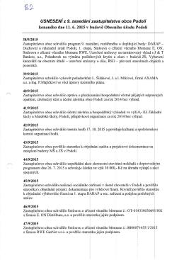Příloha k odpovědi o informace z 9.7.2015