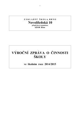 Výroční zpráva 2014-2015