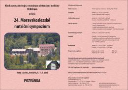 24. Moravskoslezské nutriční sympozium