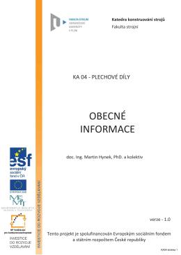ka04_obecne_informace - KKS - Západočeská univerzita v Plzni
