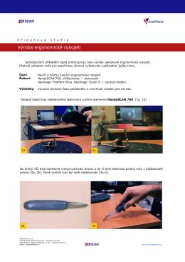 Výroba ergonomické rukojeti - 3d
