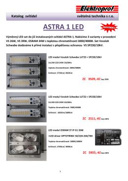 LED set ASTRA 1 - Elektroprof světelná technika sro
