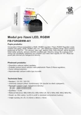 Modul pro RGBW LED, řízení
