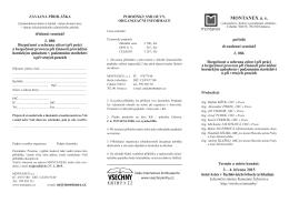 Přihláška a program