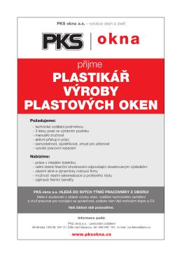 Plastikář výroby plastových oken