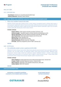 Program mezinárodní konference OVZDUŠÍ bez HRANIC