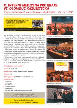 Zpráva z akce - Interní medicína pro praxi