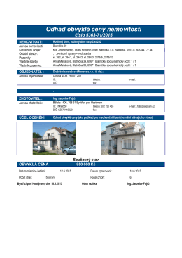 Odhad obvyklé ceny nemovitosti - E