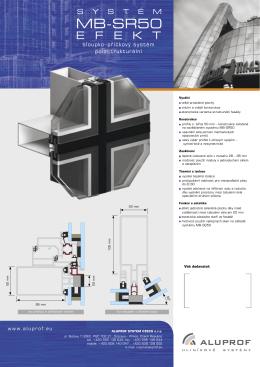Prospekt systému MB-SR50 Efekt – sloupko