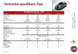 Technická specifikace Tipo