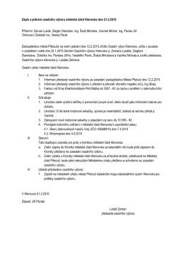 Zápis z jednání osadního výboru městské části