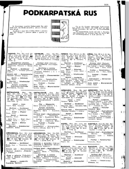 PODKARPATSKÁ RUS 3 - Genealogy Indexer