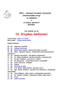 program konference ČKPA