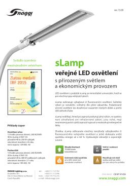 Produktový list sLamp