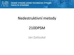 3. přednáška  - České vysoké učení technické v Praze