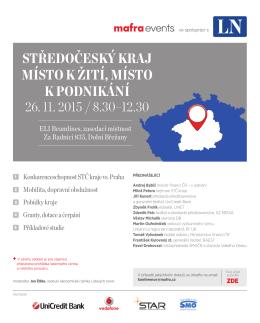 středočeský kraj místo k žití, místo k podnikání 26. 11. 2015 / 8.30